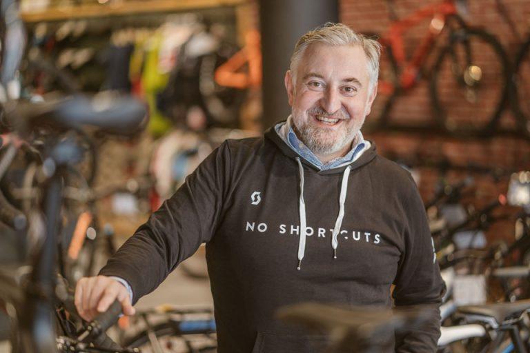 Franco Orlando, Inhaber eines Freiburger Fahrradfachgeschäftes