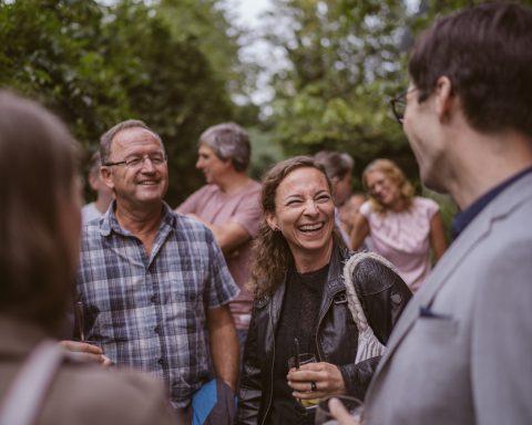 Das alljährliche Sommerfest für die Mitarbeiter*innen im Rathaus war ein schöner Anlass ins Gespräch zu kommen und die Menschen kennenzulernen. | 5. Juli 2018