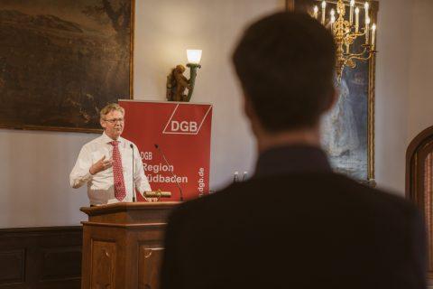 Ulrich von Kirchbach hielt eine brennende Rede für die Arbeitnehmerrechte.