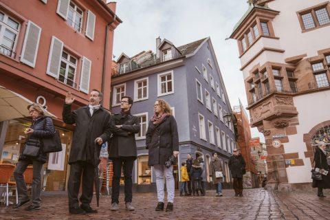 Rundgang durch die Innenstadt mit Fokus auf den Einzelhandel und mit Hauptgeschäftsführer Olaf Kather des Handelsverbandes Südbaden e.V.