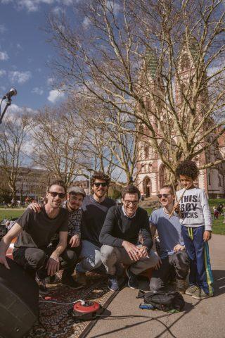 Die Band Leo Grande hat großartig gespielt neben dem Wahlkampfstand am Stühlingerkirchplatz-Markt!