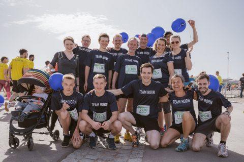 Das sportliche #TeamHorn vor dem 10km Lauf am Tag des Freiburger Marathons.
