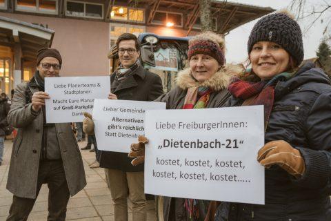 Die Entwicklung des neuen Stadtteils Dietenbach wurde am 1. März im Bürgerhaus Zähringen vorgestellt. Martin Horn sprach im Vorfeld mit Bürger*innen, die Einwände gegen das Projekt haben.