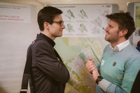 Diskussion und Begutachtung der Entwurfspläne für den neuen Stadtteil Dietenbach