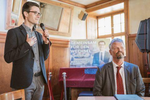 Horn meets Erler - der Wiehre-Dialog im übervollen Schützen!
