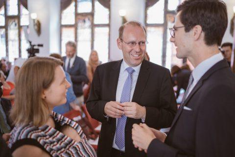 Im Gespräch mit Kollege und ehemaligen Vorgesetzten Oberbürgermeister Dr. Bernd Vöhringer aus Sindelfingen. | 2. Juli 2018